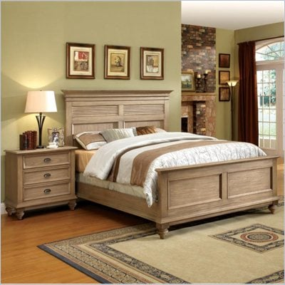 Riverside Furniture Coventry King Bed in Driftwood
