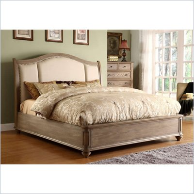 Riverside Furniture Coventry Queen Sleigh Bed in Driftwood