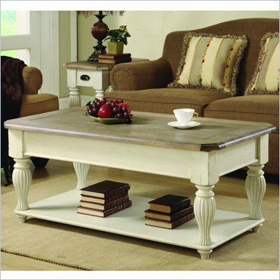 Riverside Furniture Coventry Two Tone Cocktail Table in Dover White