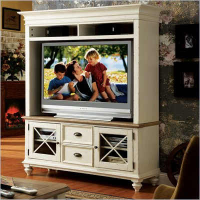 Riverside Furniture Coventry TV Console & Hutch in Dover White