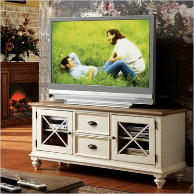 Riverside Furniture Coventry Two Tone TV Console in Dover White