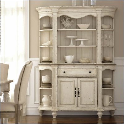 Riverside Furniture Coventry Two Tone Server and Hutch in Dover White