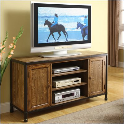 Riverside Furniture Debonair TV Console in Cask Aged Oak
