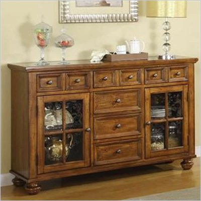 Riverside Furniture Delcastle Server in Antique Irish Pine