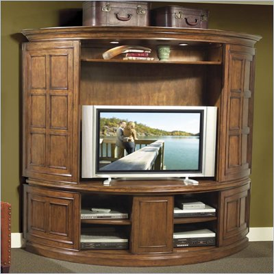 Riverside Furniture Delcastle Curved TV Stand and Deck
