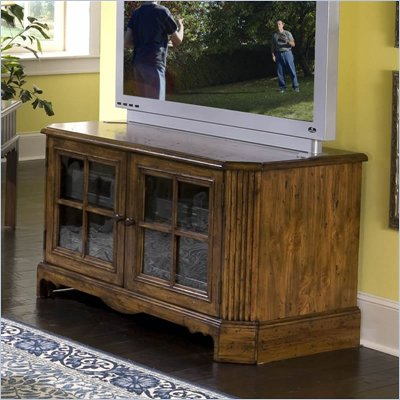 Riverside Furniture Delcastle 48 Inch TV Stand in Antique Irish Pine