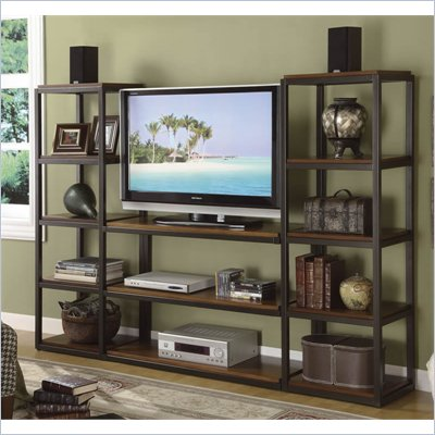 Riverside Furniture Escapade Entertainment Center in Sweet Rosy Brown