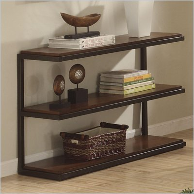 Riverside Furniture Escapade Sofa/Console Table in Dark Walnut