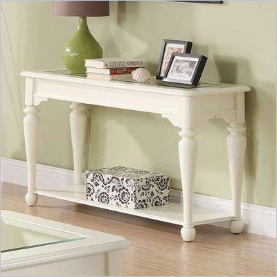 Riverside Furniture Essex Point Sofa Table in Shores White