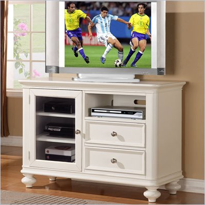 Riverside Furniture Evening Tide TV Console in Captiva White
