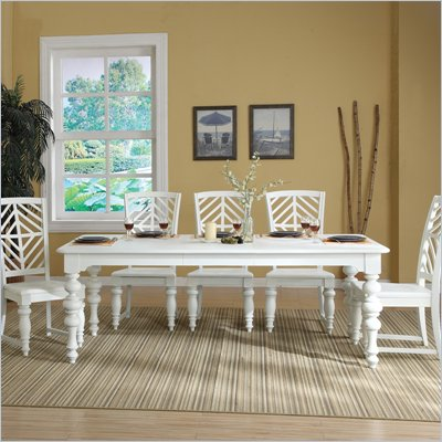 Riverside Furniture Evening Tide Dining Table in Captiva White