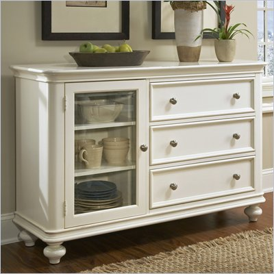 Riverside Furniture Evening Tide Sideboard in Captiva White