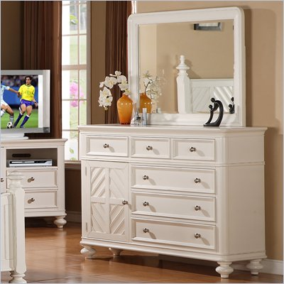 Riverside Furniture Evening Tide Dresser in Captiva White