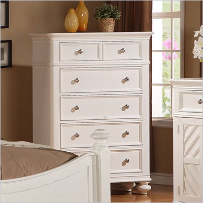 Riverside Furniture Evening Tide 5-Drawer Chest in Captiva White