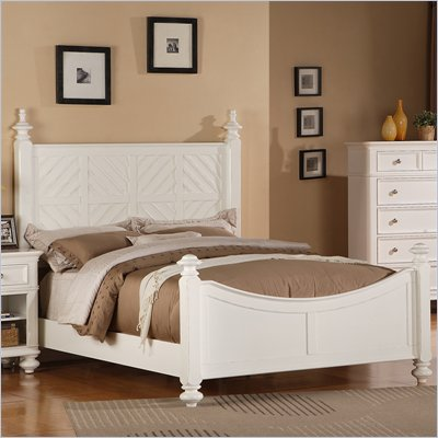 Riverside Furniture Evening Tide Queen Bed in Captiva White