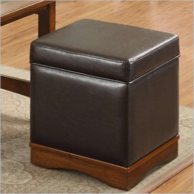 Riverside Furniture Falls Village Storage Stool in Dark Brown
