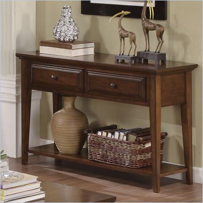 Riverside Furniture Hilborne Sofa Table in Burnished Cherry