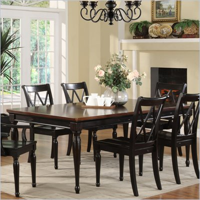 Riverside Furniture Marbella Rectangular Dining Table in Aged Black