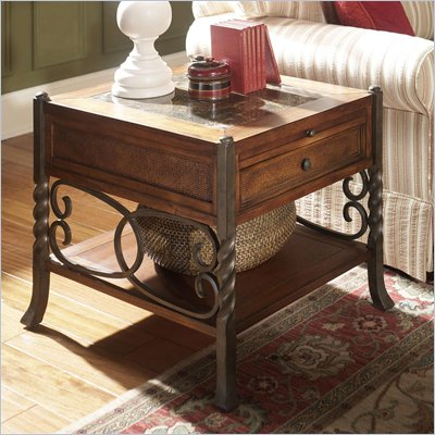 Riverside Furniture Medley Side Table in Camden / Wildwood Taupe
