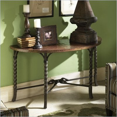 Riverside Medley Demilune Sofa Table in Camden / Wildwood Taupe