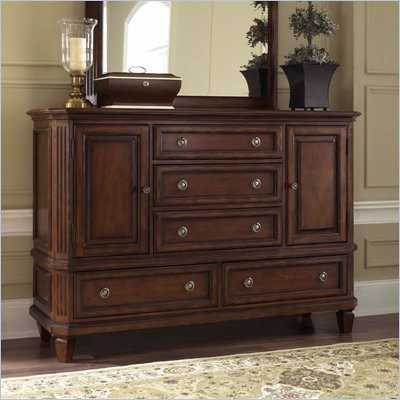 Riverside Furniture Middleton Dresser in Distressed Spiced Cherry