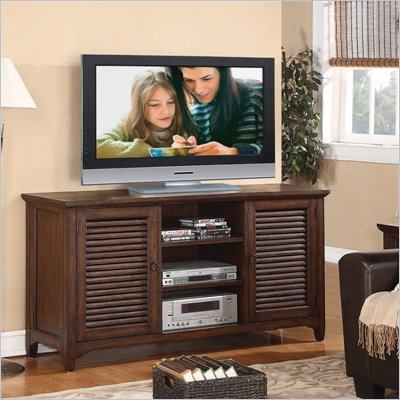 Riverside Furniture Monterey TV Console in Aged Ash