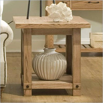 Riverside Furniture Napa Valley End Table in Champagne Ash