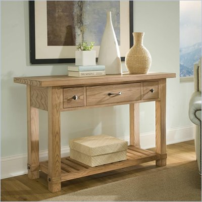 Riverside Furniture Napa Valley Console Table in Champagne Ash