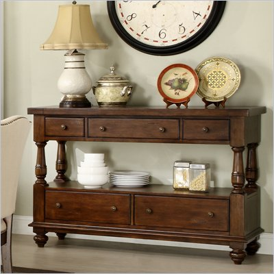 Riverside Furniture Newburgh Server in Antique Ginger