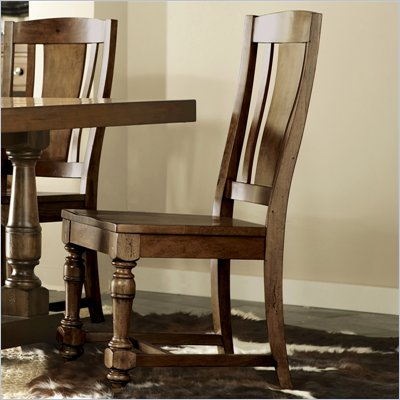 Riverside Furniture Newburgh Side Chair in Antique Ginger
