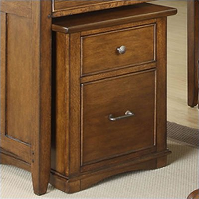 Riverside Furniture Oakton Village File Cabinet in Distressed Oak