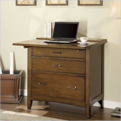 Riverside Furniture Oakton Village Workstation in Distressed Oak