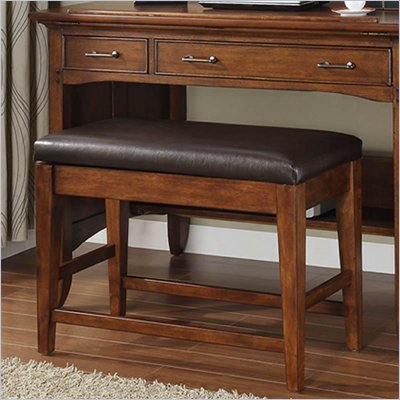 Riverside Furniture Oakton Village Bench in Distressed Oak