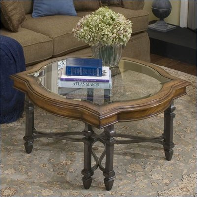 Riverside Octavia Sq/Round Cocktail Table in Stardust finish