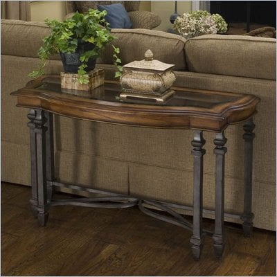 Riverside Octavia Sofa Table in August Morning/Stardust finish