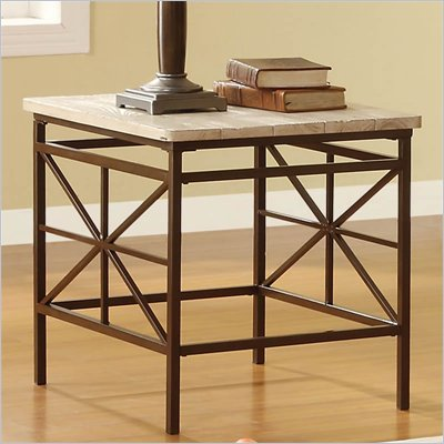 Riverside Furniture Palo Alto End Table in Weathered White