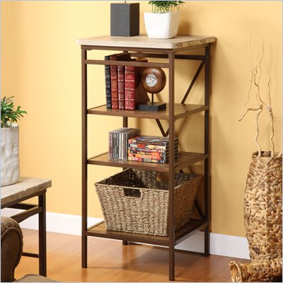 Riverside Furniture Palo Alto Etagere in Weathered White