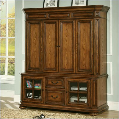 Riverside Furniture Seville Entertainment Center in Warm Oak