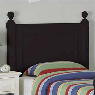 Riverside Furniture Splash of Color Twin Panel Headboard in Black