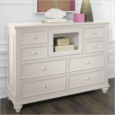 Riverside Furniture Splash Of Color Entertainment Dresser in Shores White