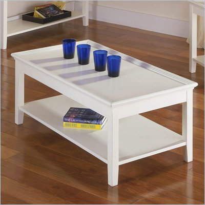 Riverside Splash Of Color Tray Top Cocktail Table in Shores White