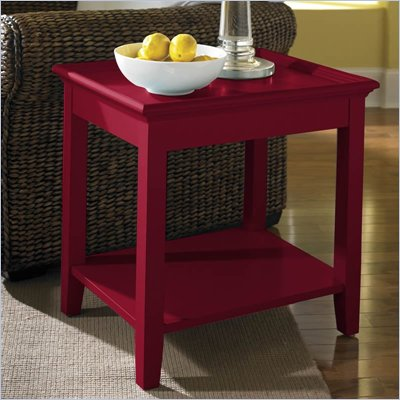 Riverside Splash Of Color Tray Top End Table in Chili Pepper Red 