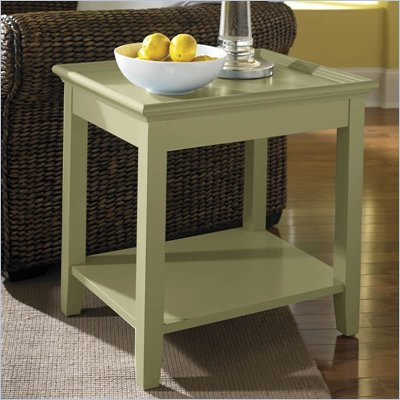 Riverside Furniture Splash Of Color Tray Top End Table in Ivy Green