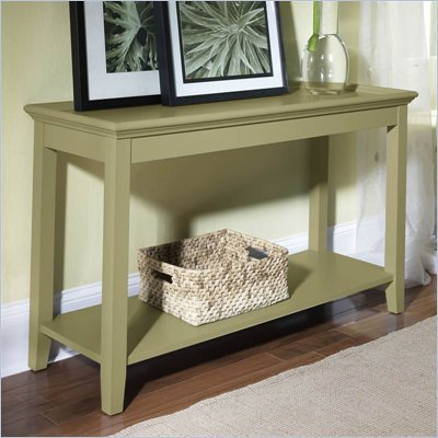 Riverside Furniture Splash Of Color Tray Top Sofa Table in Ivy Green
