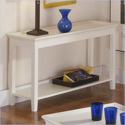 Riverside Splash Of Color Tray Top Sofa Table in Shores White