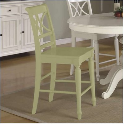 RiverArm Furniture XX-Back Back Counter Stool in Ivy