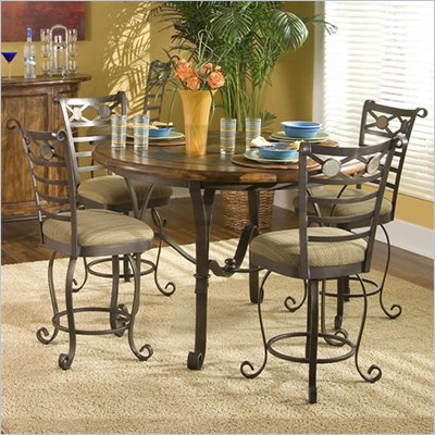 Riverside Furniture Stone Forge Gathering Height Table