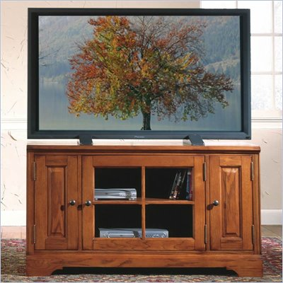 Riverside Furniture Visions 48 Inch TV Stand in Medium Distressed Oak