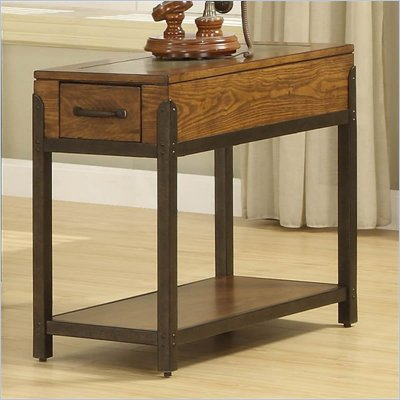 Riverside Furniture West End Chairside Table in Heirloom Russet