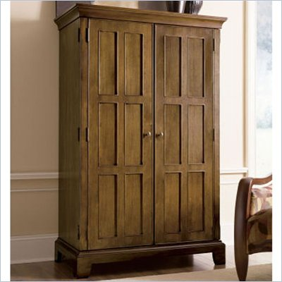 Riverside Furniture Woodland's Oak Computer Armoire in Canyon Oak